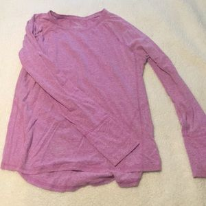 Pink/purple long sleeve exercise top!!